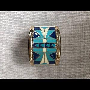 Accessories - Enamel Aztec Design cuff bracelet